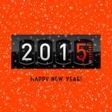 Compteur de la nouvelle année 2015 illustration stock
