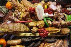 Compteur de viande Image stock