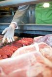 Compteur de viande fraîche images libres de droits