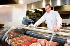 Compteur de viande fraîche photographie stock