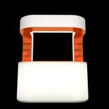 Compteur en plastique de cabine Photographie stock libre de droits
