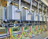 Compteurs d'électricité Images libres de droits