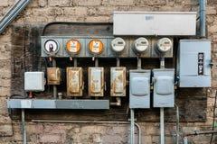 Compteurs d'électricité intelligents pour la consommation image libre de droits