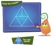 Comptez les triangles Photos libres de droits