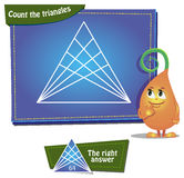 Comptez les triangles Images libres de droits