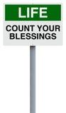 Comptez vos bénédictions images libres de droits