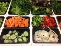Comptoir à salades Photographie stock