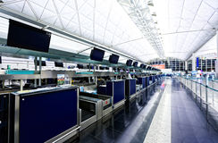 Comptoir d'enregistrement d'aéroport Photo libre de droits