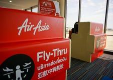 Comptoir d'enregistrement d'AirAsia Image libre de droits