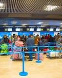 Comptoir d'enregistrement dans l'aéroport Photographie stock libre de droits