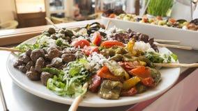 Comptoir ? salades de libre service Photos libres de droits