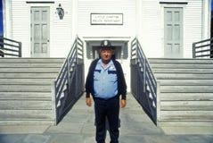 Compton chef av polis på polisstationen arkivfoton