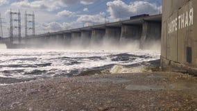 Compuerta de la estación hidroeléctrica de Volga Depósito de Zhigulevskoe