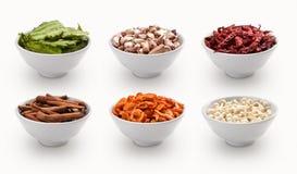 Compuesto con muchas diversas variedades de ingredientes imagenes de archivo