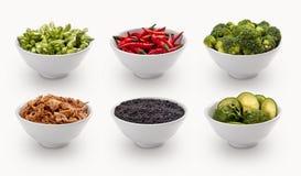 Compuesto con muchas diversas variedades de ingredientes fotografía de archivo