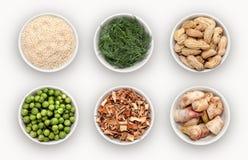 Compuesto con muchas diversas variedades de ingredientes foto de archivo