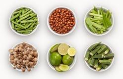 Compuesto con muchas diversas variedades de ingredientes fotos de archivo