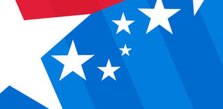 Compuesto de Digitaces de la bandera americana stock de ilustración