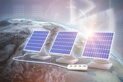 Compuesto de Digitaces del panel solar 3d ilustración del vector