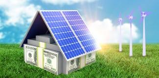 Compuesto de Digitaces del panel solar 3d stock de ilustración