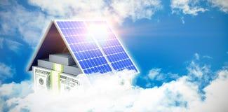 Compuesto de Digitaces del panel solar 3d libre illustration
