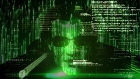 Compuesto de Digitaces del pirata inform?tico ilustración del vector