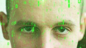 Compuesto de Digitaces del rostro humano con almacen de metraje de vídeo