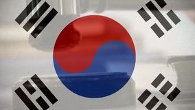 Compuesto de Digitaces de la bandera surcoreana metrajes
