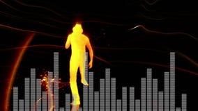 Compuesto de Digitaces de un hombre de baile y de barras digitales libre illustration