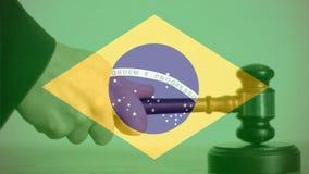 Compuesto de Digital de la bandera del Brasil metrajes