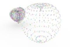 Compuesto de esfera o del planeta del carácter del número Para el desi gráfico ilustración del vector
