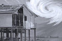 Compuesto de la estación del huracán Fotos de archivo libres de regalías