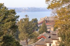 Compuesto de la ladera de Pekín Beihai Imagen de archivo
