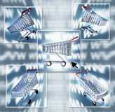 Compuesto de las compras del Internet Fotos de archivo libres de regalías