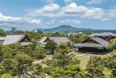 Compuesto del palacio del castillo de Nijo en Kyoto Imágenes de archivo libres de regalías