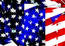 Compuesto texturizado de la bandera americana libre illustration