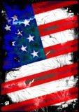 Compuesto texturizado de la bandera americana stock de ilustración