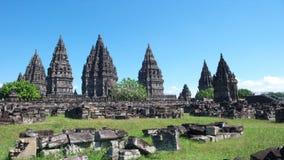 Compuestos del templo de Prambanan Imagen de archivo libre de regalías