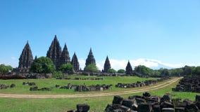 Compuestos del templo de Prambanan Foto de archivo libre de regalías