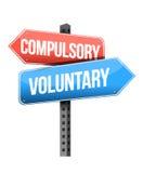 Compulsory, voluntary road sign Royalty Free Stock Photos