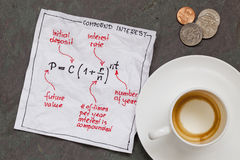 Compund interest concept Royalty Free Stock Photography