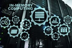 Computação da Em-memória Conceito dos cálculos da tecnologia Dispositivo analítico de capacidade elevada imagem de stock