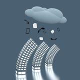 Computação da nuvem ilustração do vetor