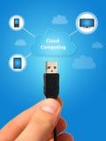 Computação da nuvem. Fotografia de Stock