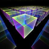 Computação gráfica: Cubos mágicos ilustração stock