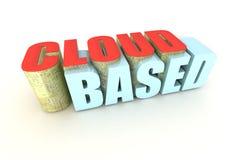 Computación basada nube Foto de archivo