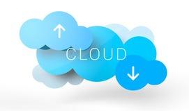 Computación de la nube Foto de archivo