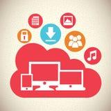 Computación de la nube Fotografía de archivo libre de regalías
