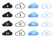 Computación de la nube - conjunto 1 Fotografía de archivo