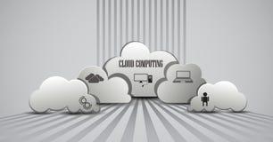 Computación de la nube infographic Fotos de archivo